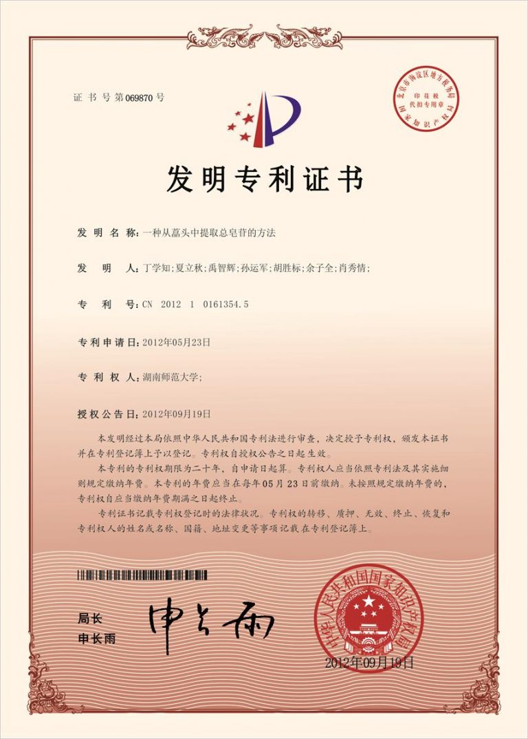 Authorized Invention Patent-04