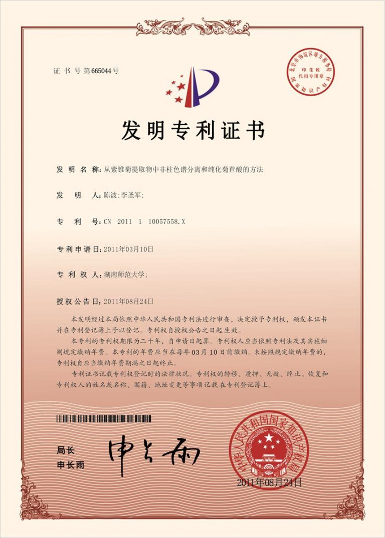 Authorized Invention Patent-08